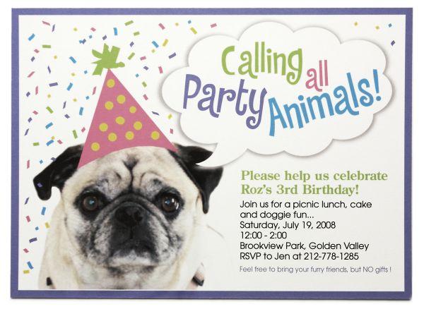 dog birthday party invitations free