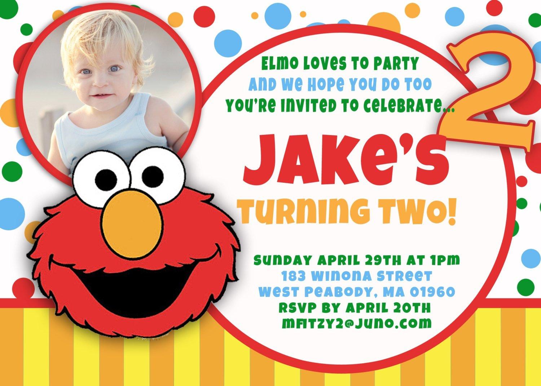 elmo 1st birthday invitations free
