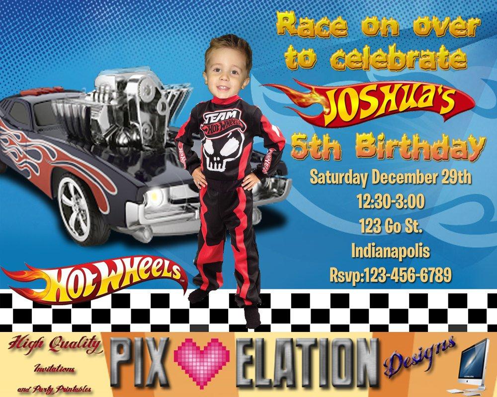 hot wheels birthday invitations free