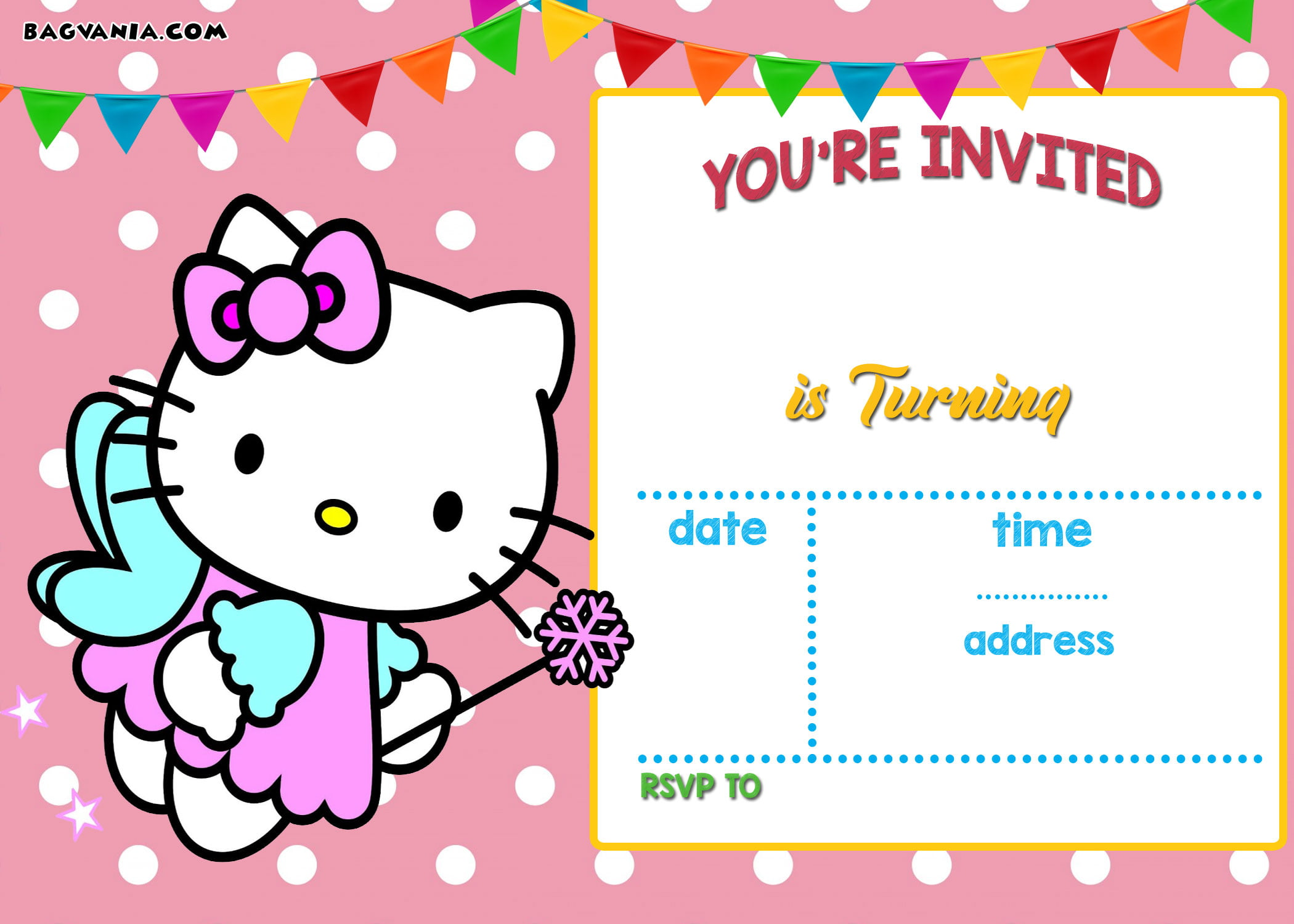 Free Printable Hello Kitty Invitation Templates Theme