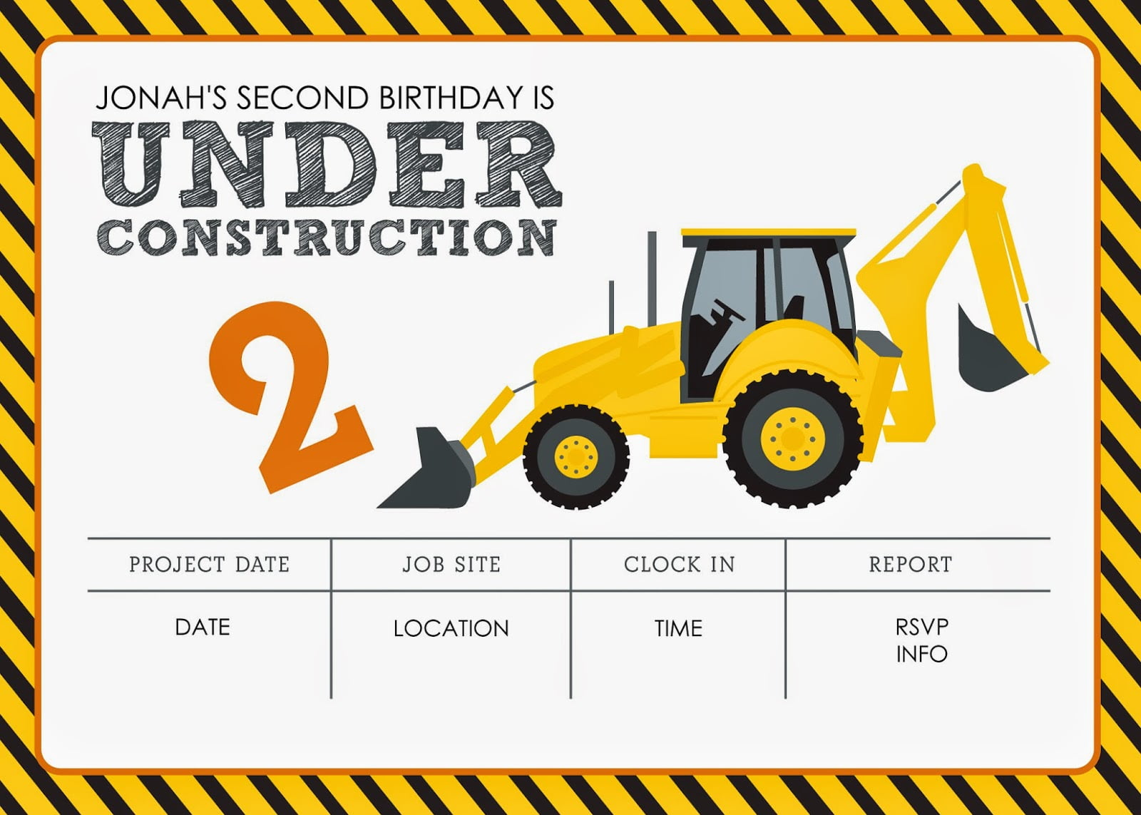 free printable construction birthday
