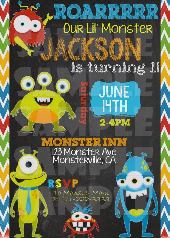 free monster birthday invitations