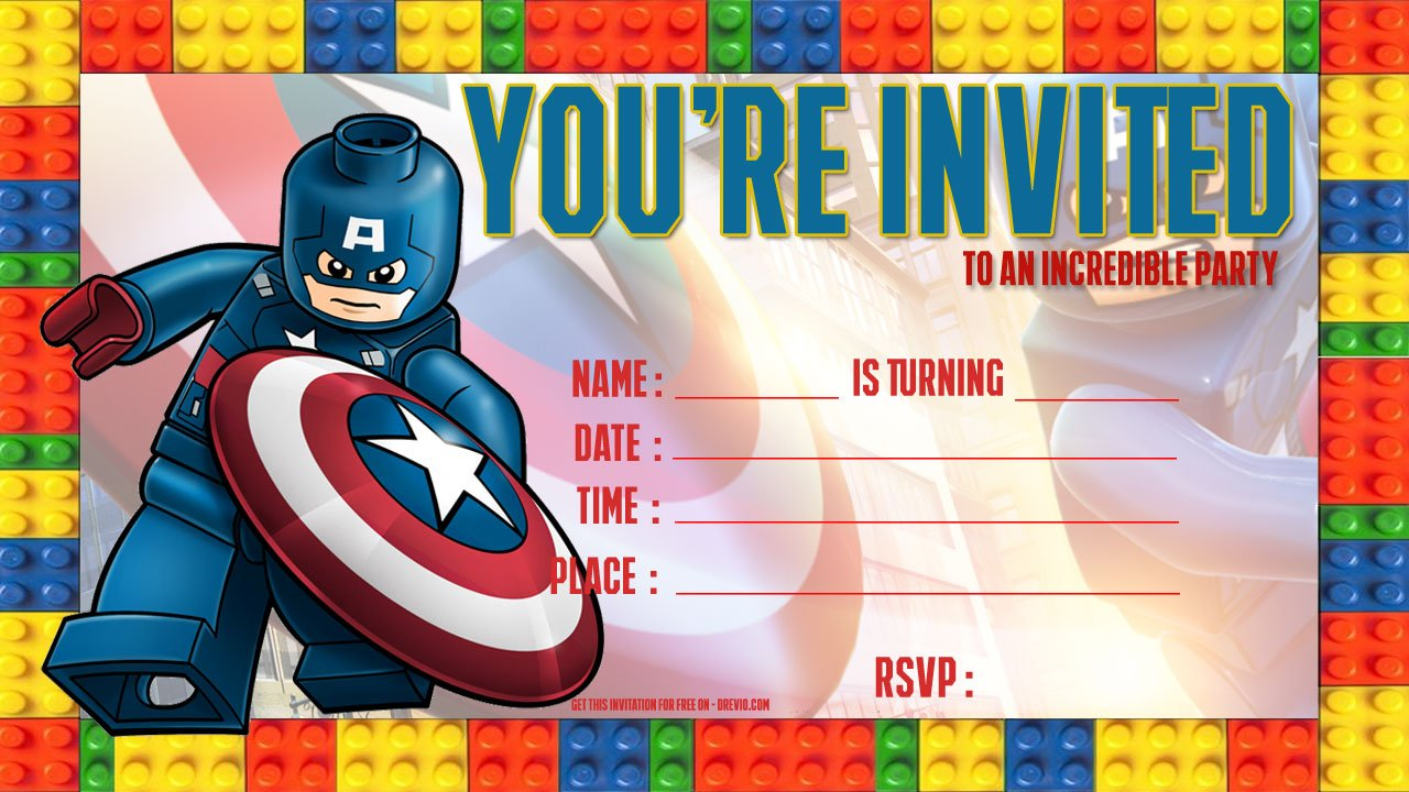 free lego birthday invitations free