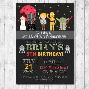free star wars birthday invitations