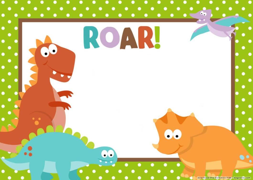 Printable Birthday Invitations Dinosaur | Invsite.co