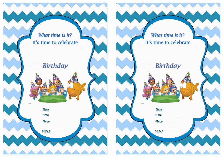 Free Printable Bubble Guppies Birthday Invitations Free