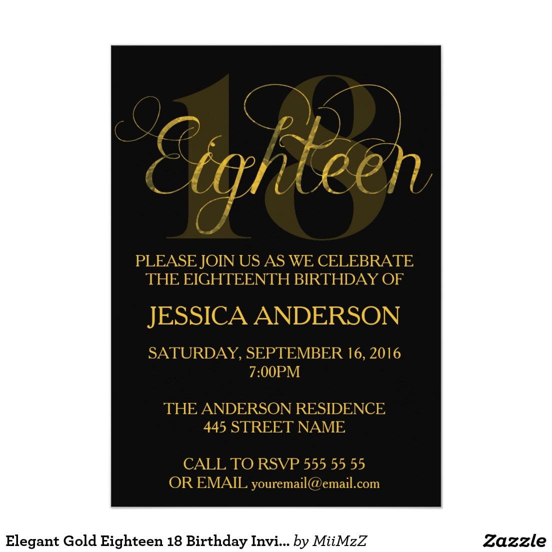 free 18th birthday invitations wording
