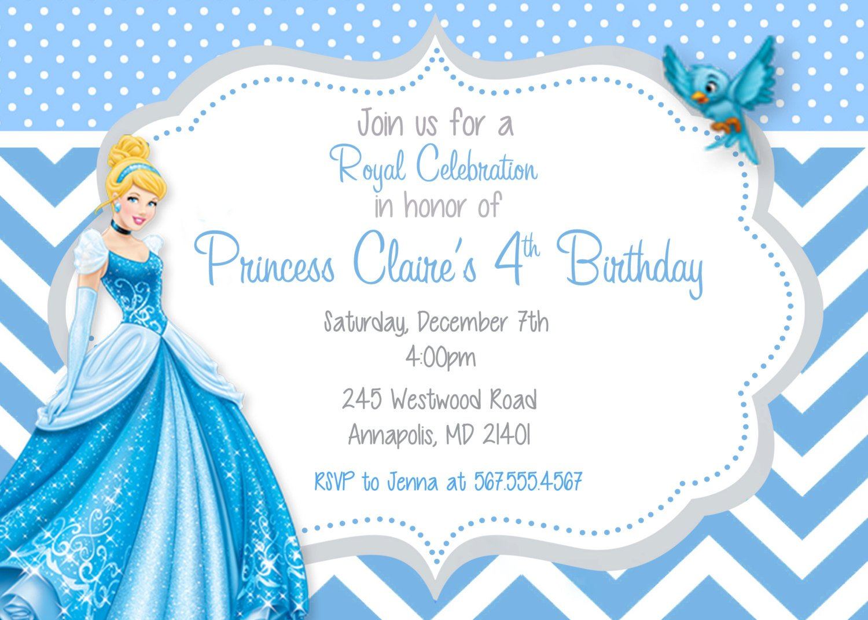 free printable cinderella birthday