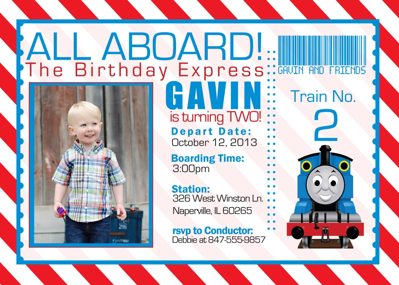 Thomas And The Train Birthday Invitations Free Printable