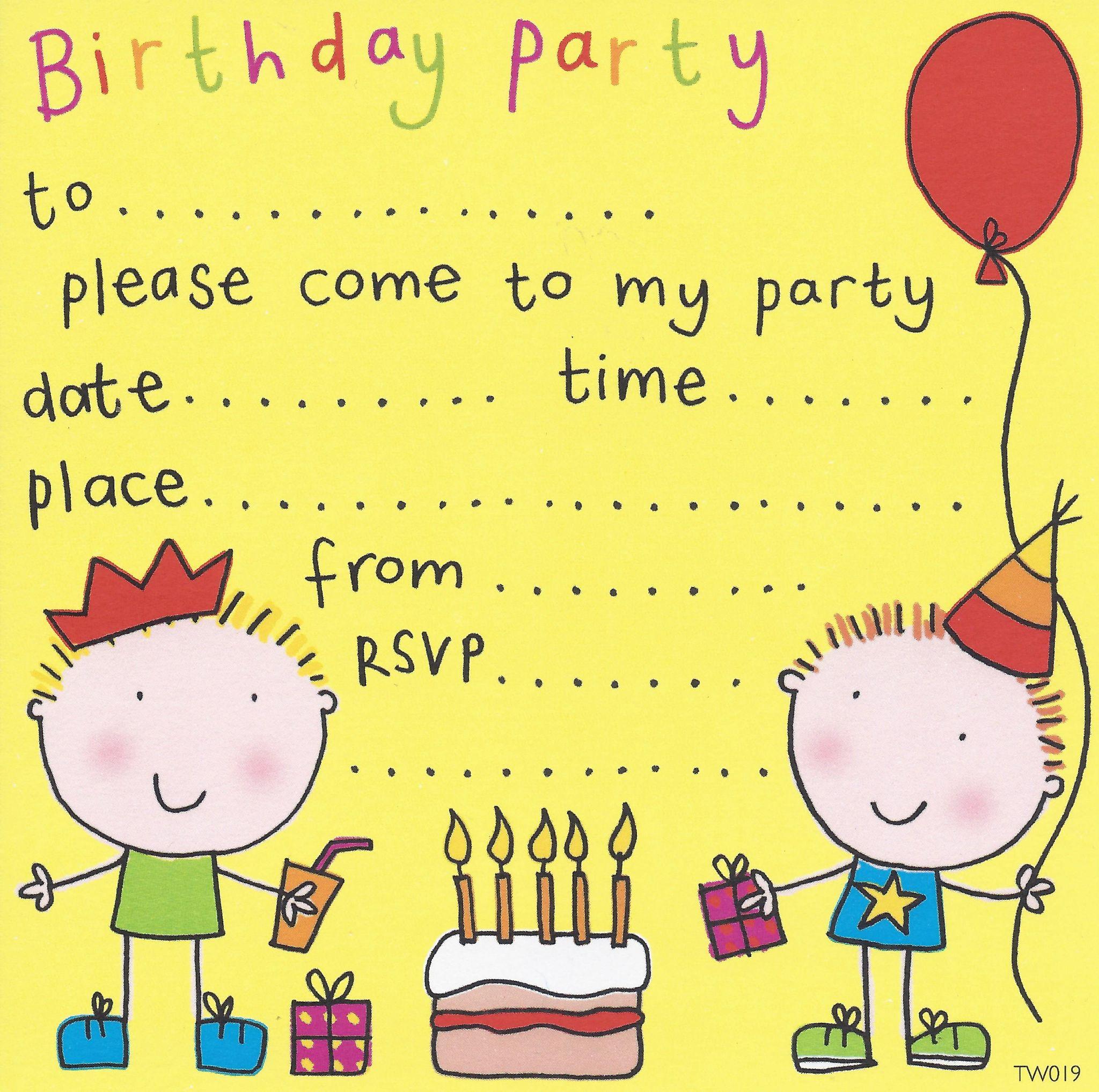 Invitation Birthday Kids