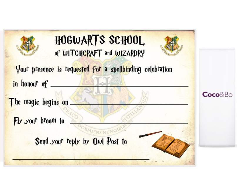 Harry Potter Invitation To Hogwarts Template Free | Inviview.co