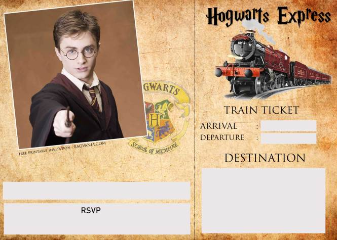 Harry Potter Ticket Invitation Template Bagvania
