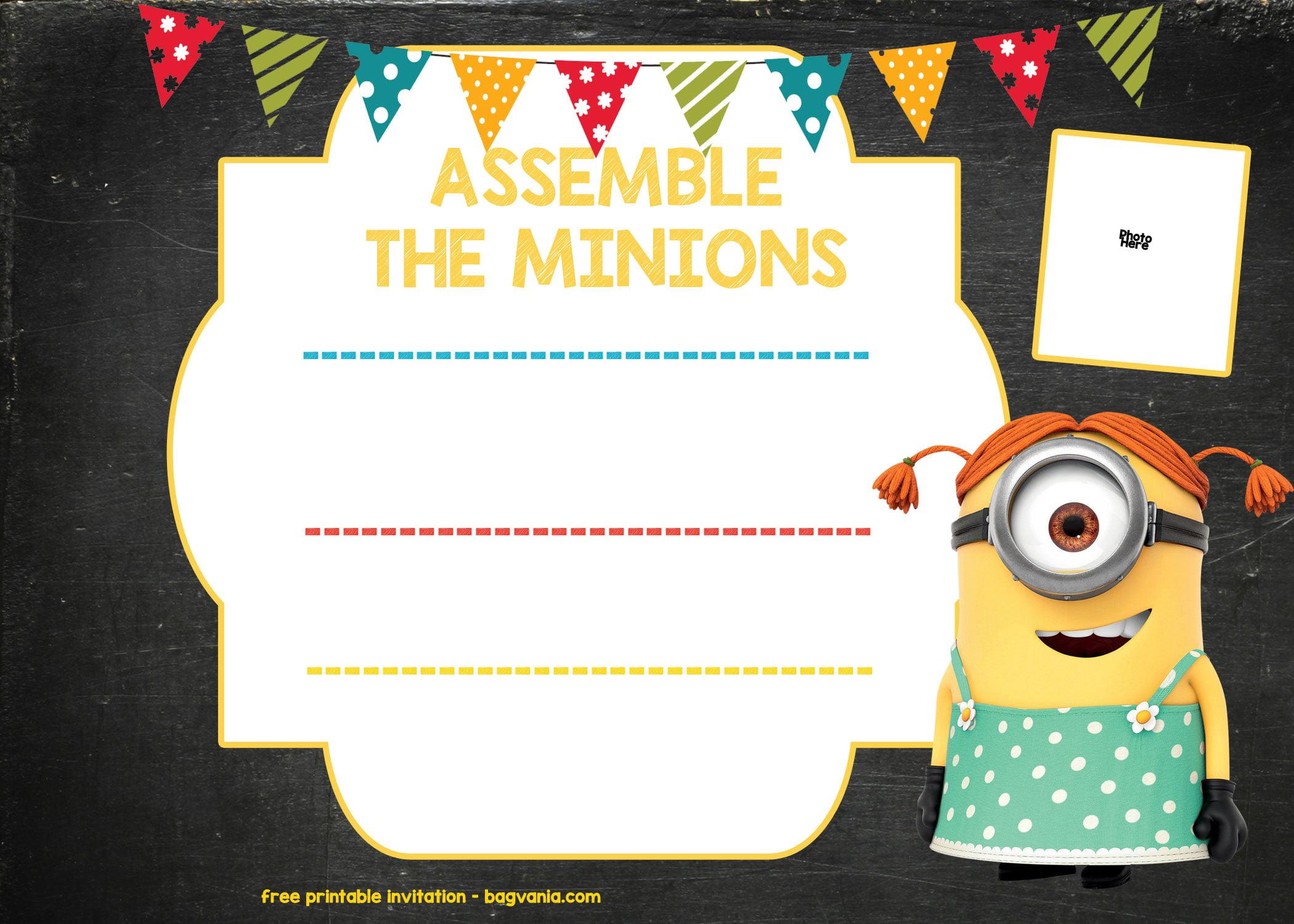 minion birthday invitation template