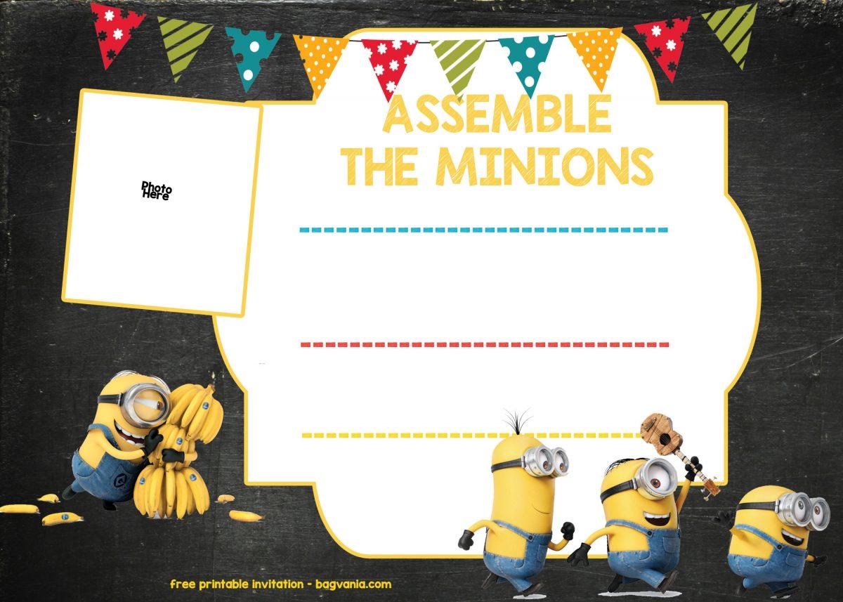 Minion Birthday Invitation Template Free Download Free Printable Birthday Invitation