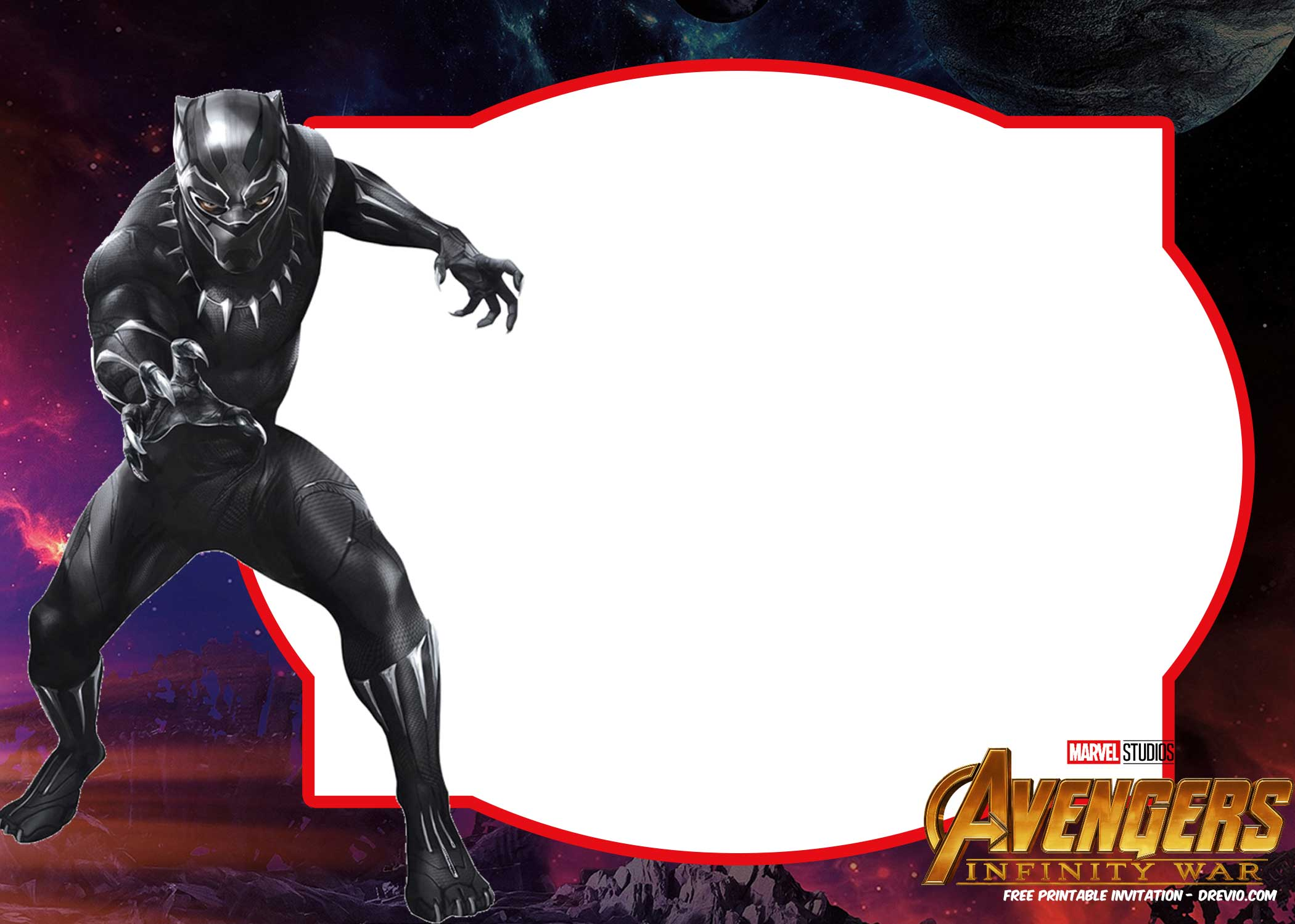 free avengers infinity wars invitations