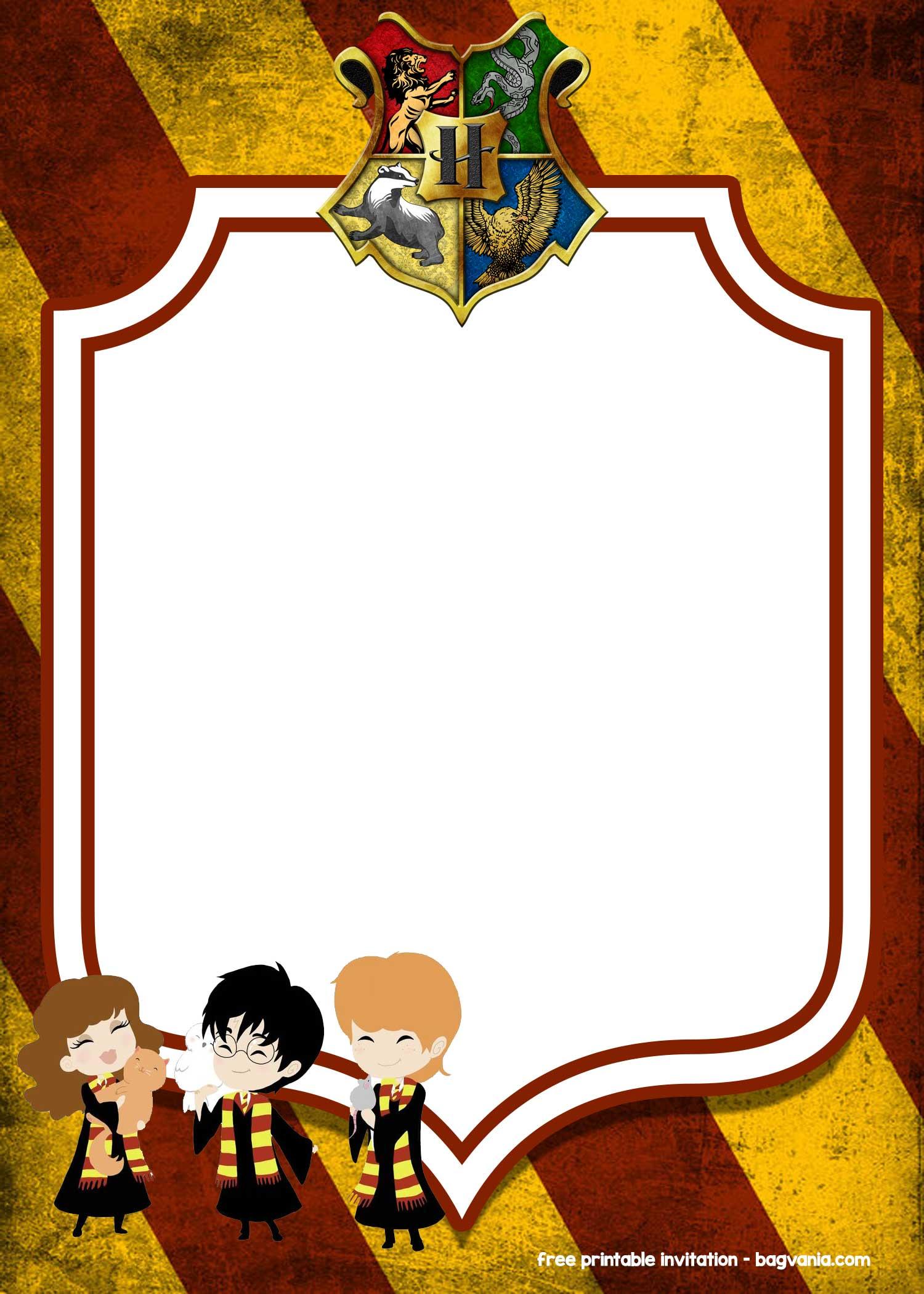FREE Printable Harry Potter Invitation Templates FREE Printable Birthday Invitation Templates