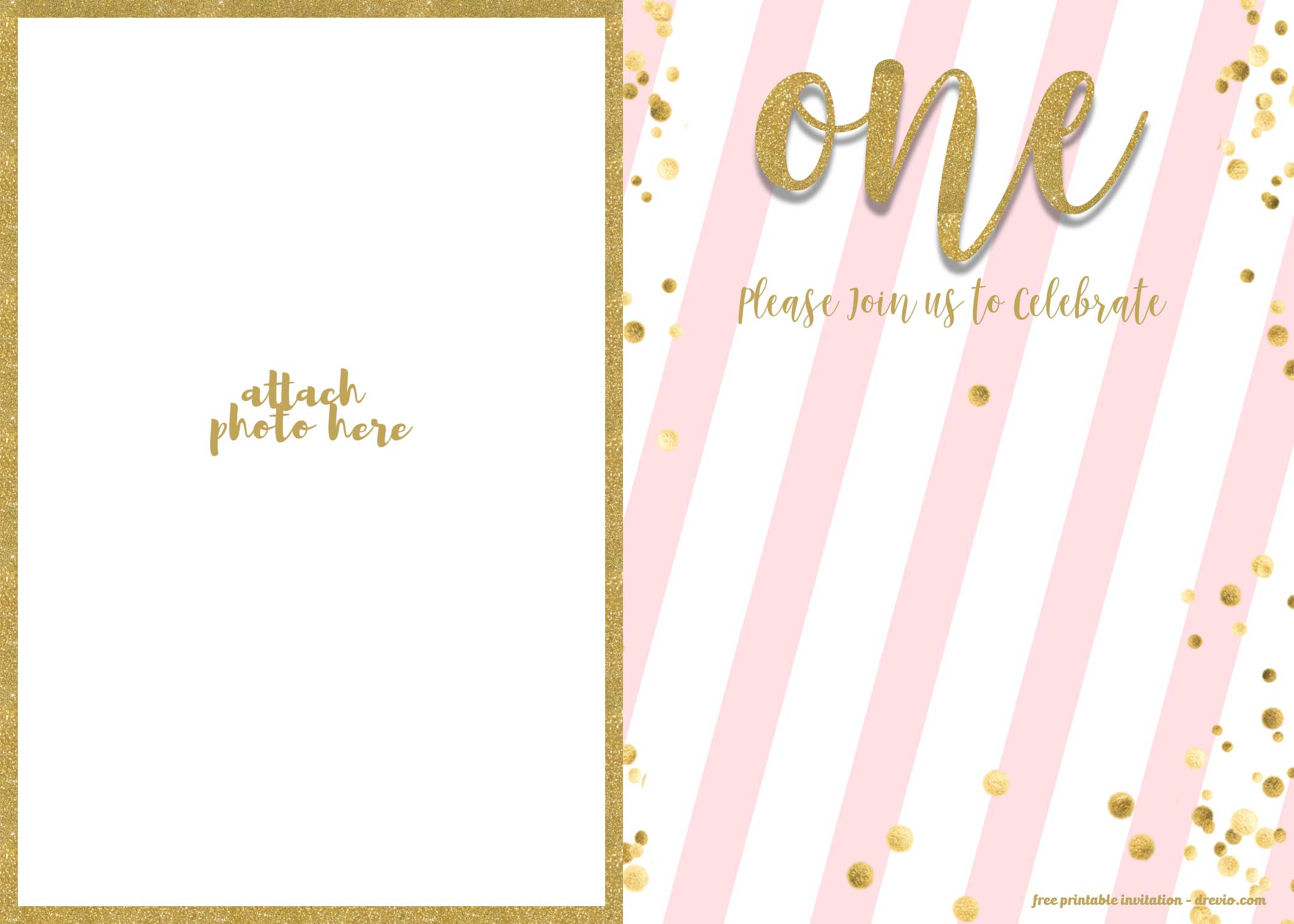 Free 1st Birthday Invitations Template For Girl Free