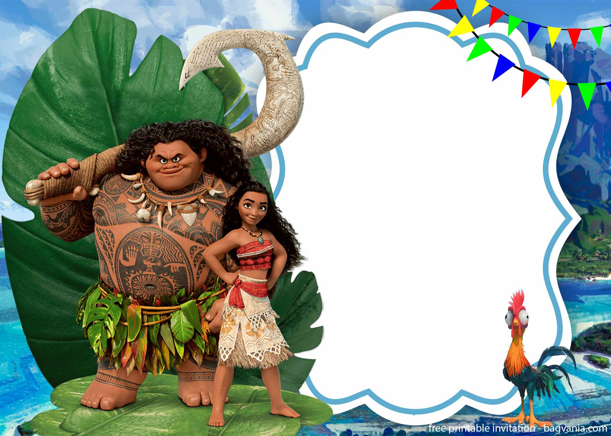 free printable moana birthday