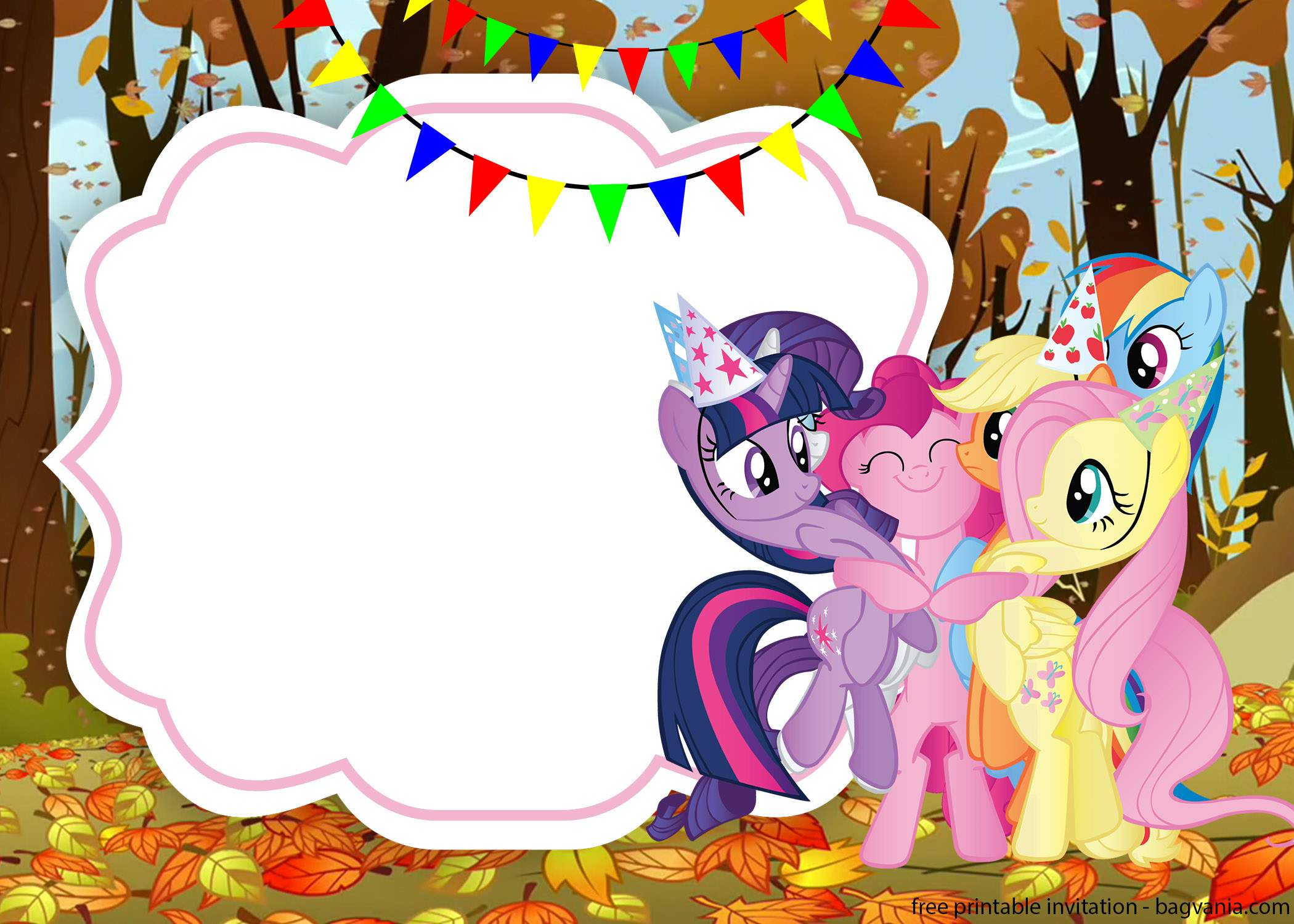 little pony invitation template