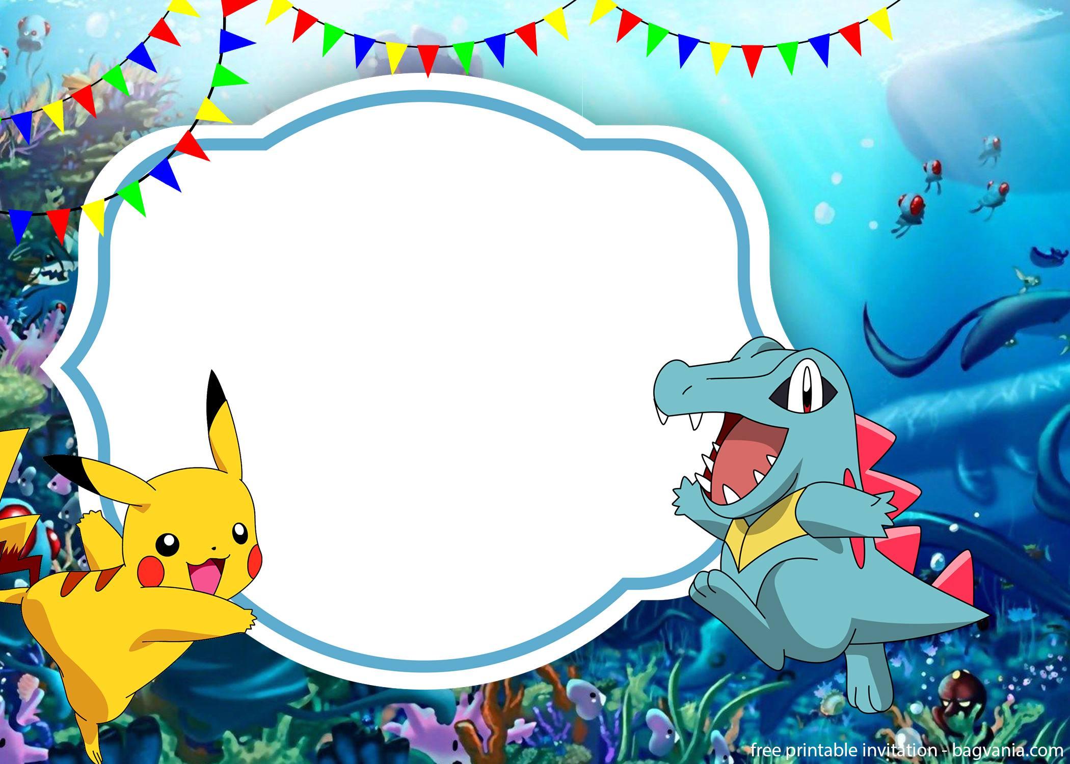 pokemon pikachu invitation template