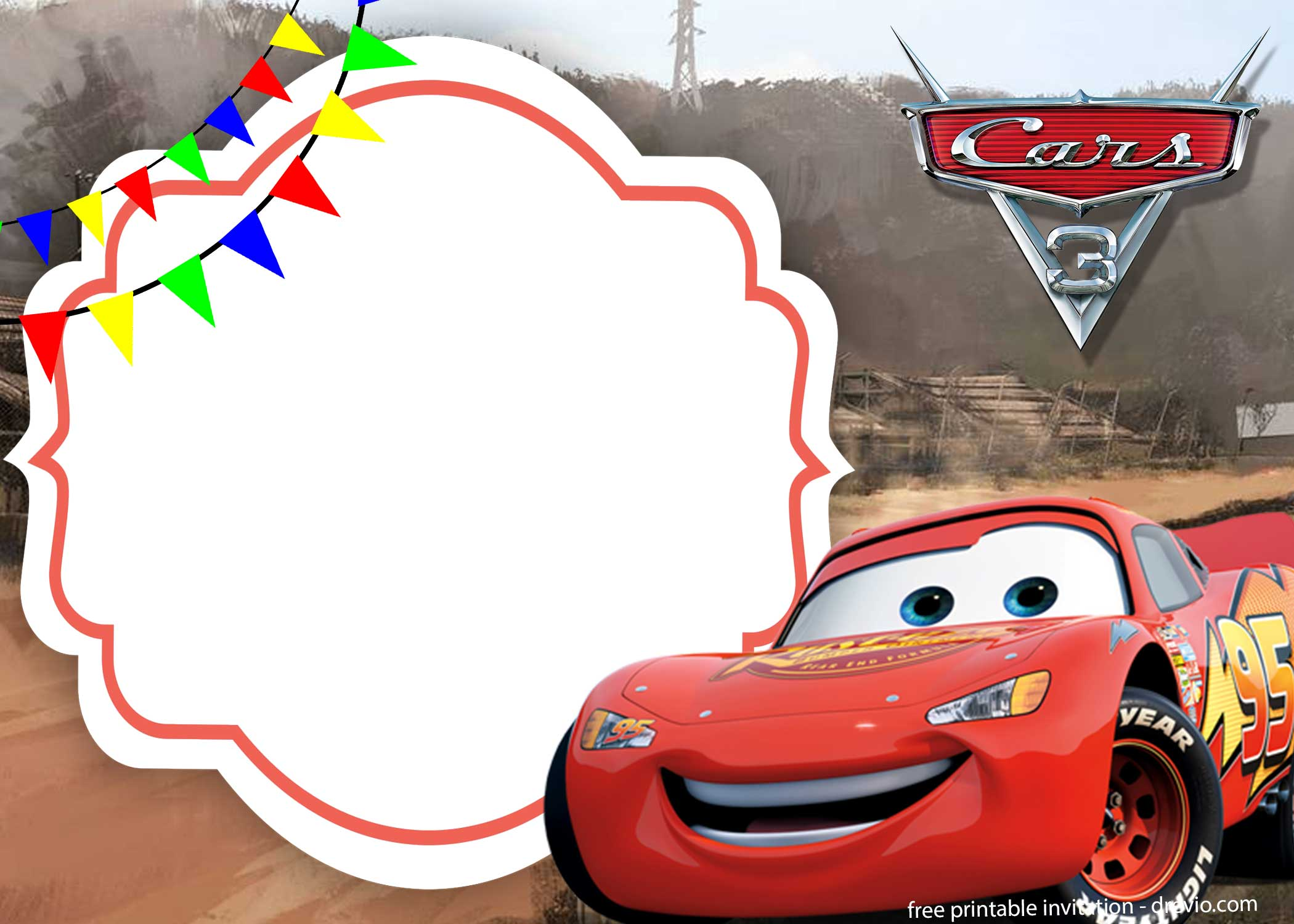 cars 3 invitation template how to
