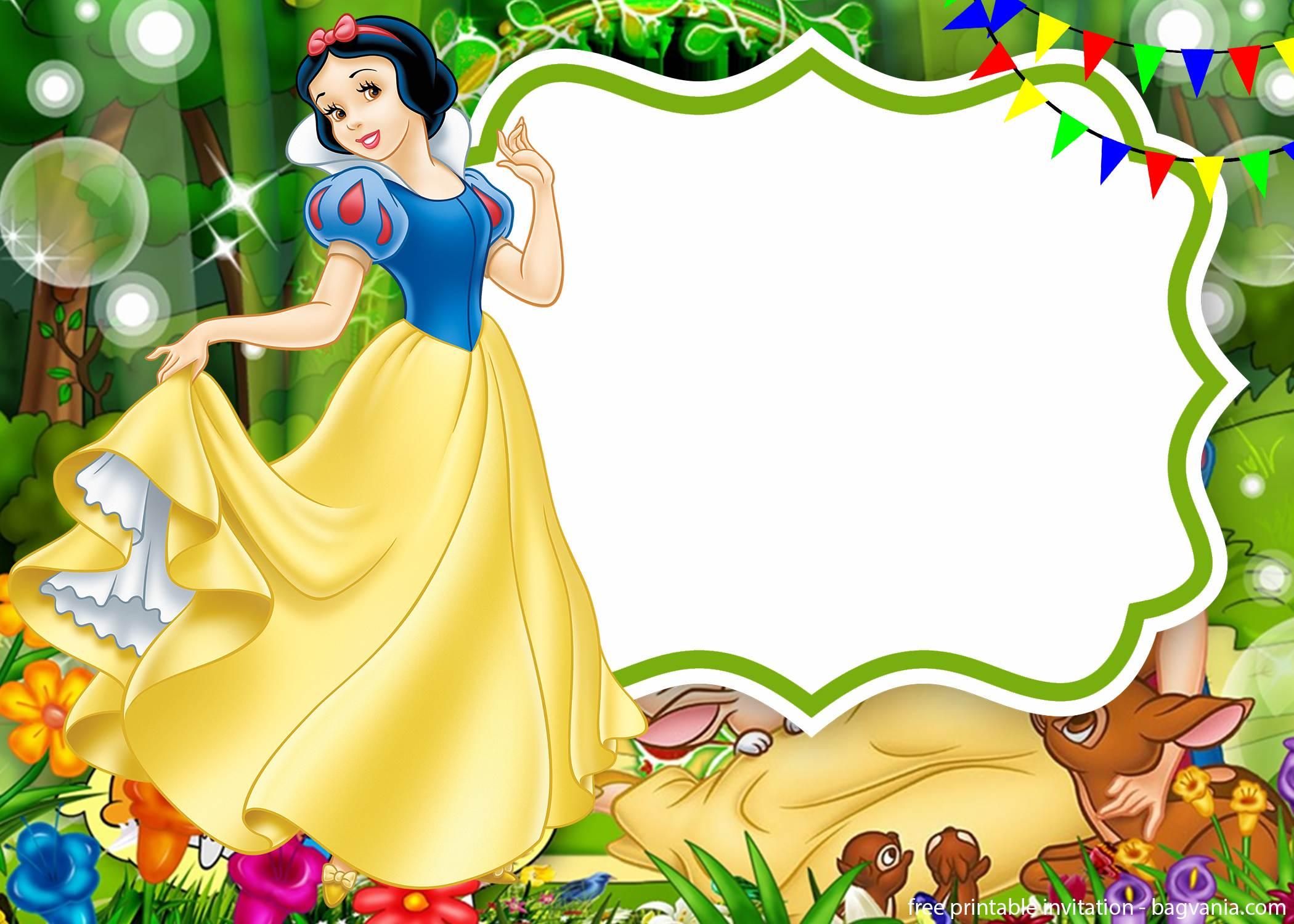 snow white seven dwarfs invitations