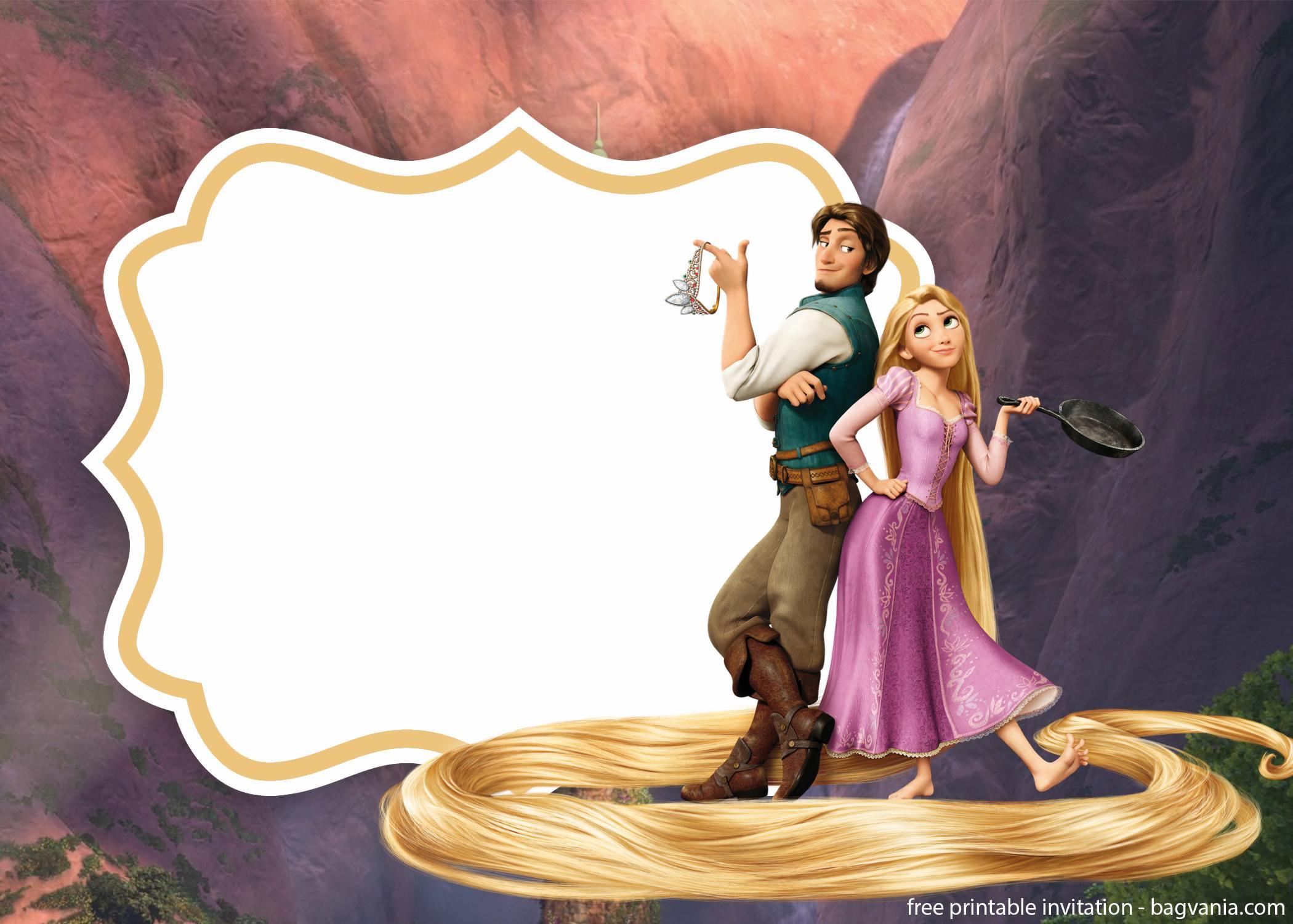 Free Royal Rapunzel Invitation Template Free Printable Birthday Invitation Templates Bagvania