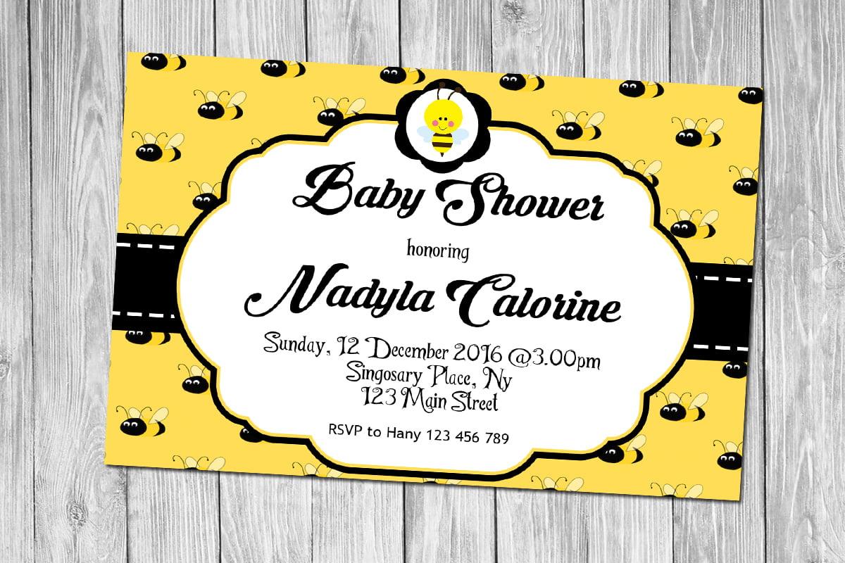 free printable bumblebee baby shower