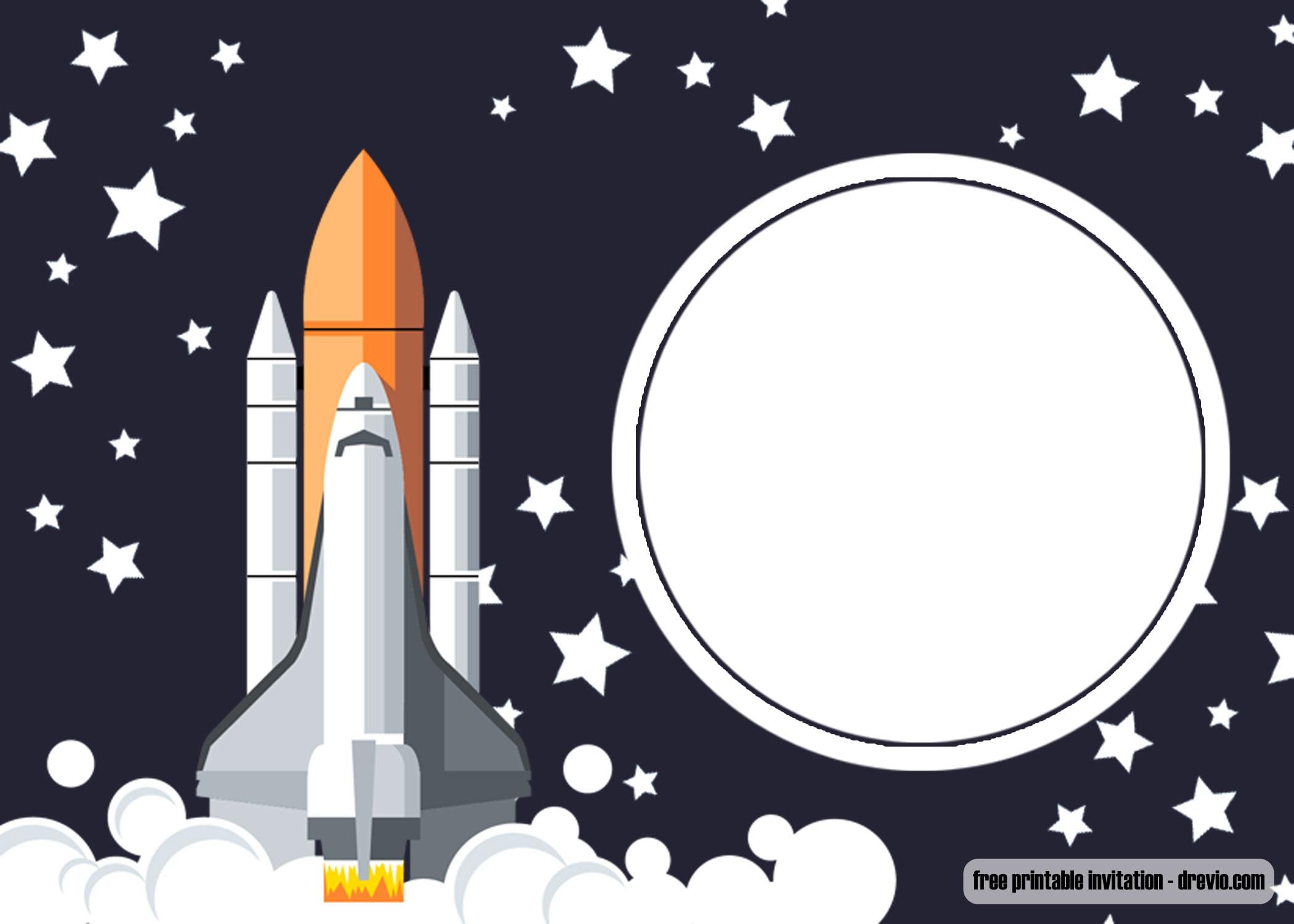 free printable shuttle space birthday