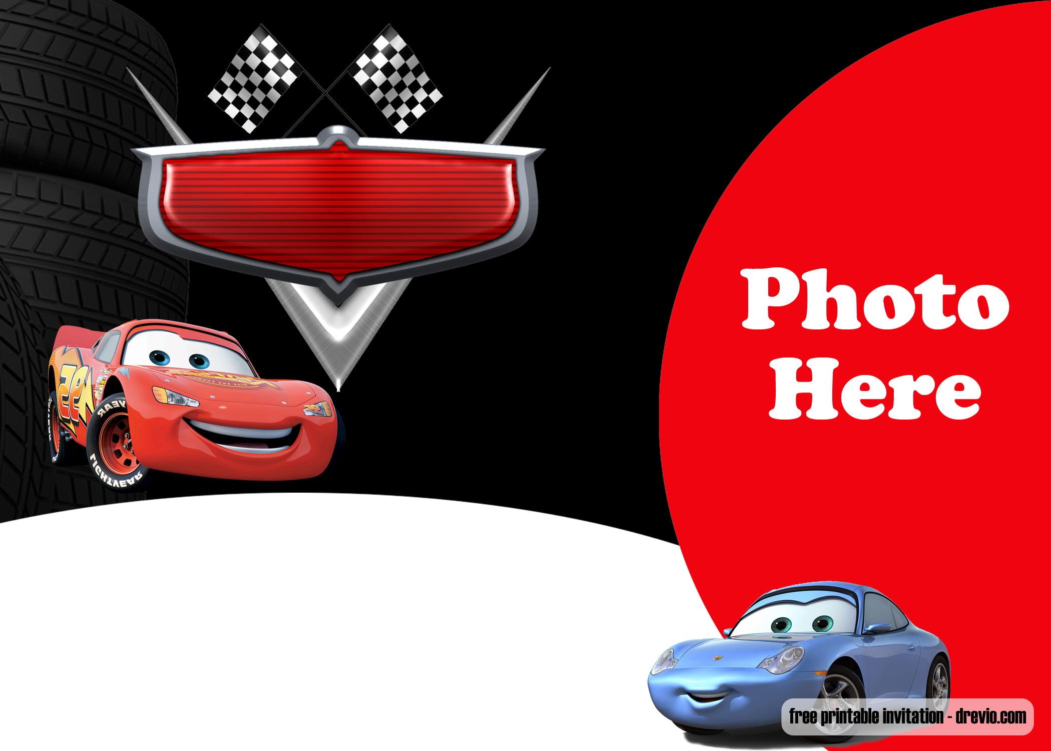 free printable cars 2 invitation