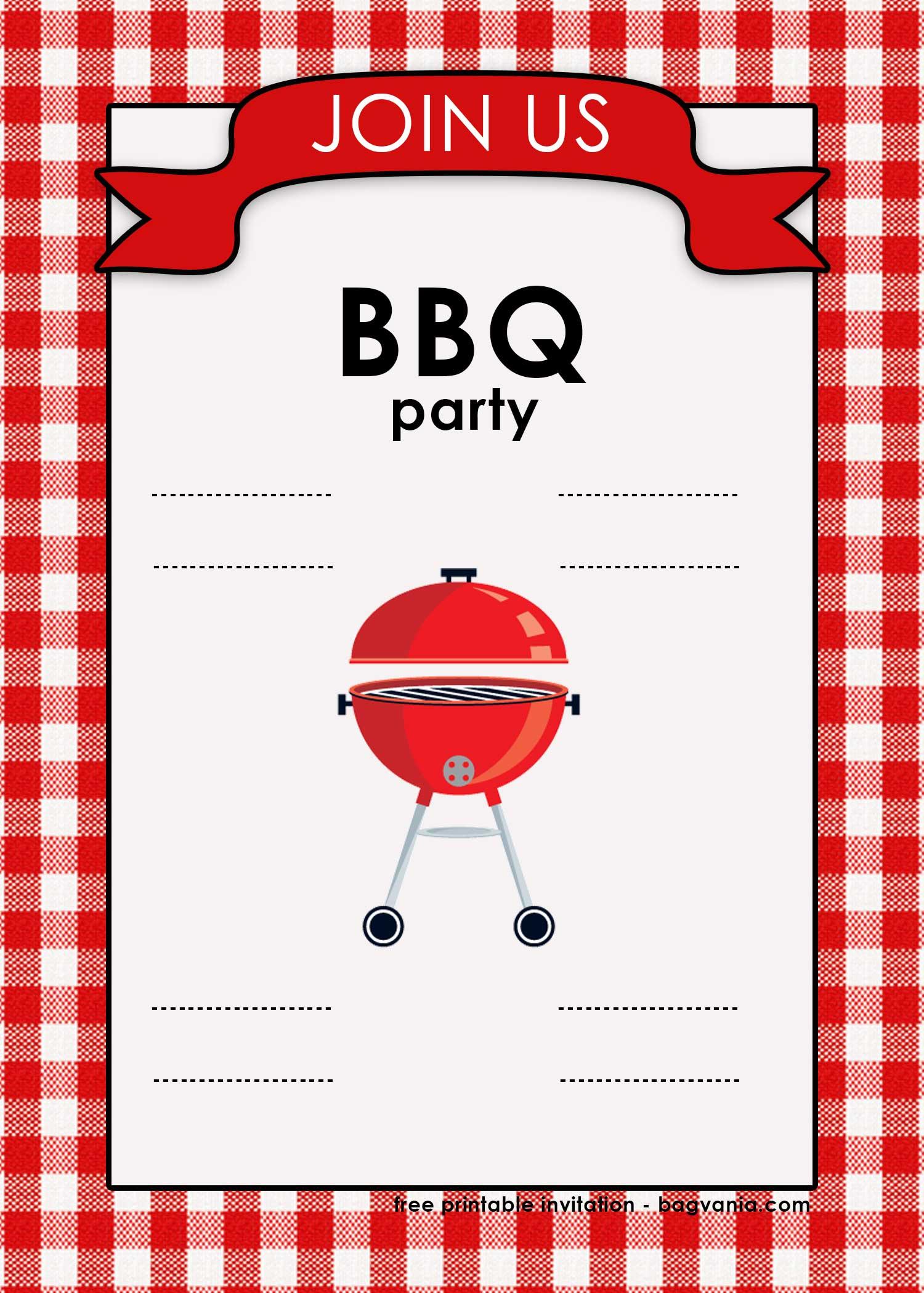 Free Backyard Bbq Invitation Templates Free Printable