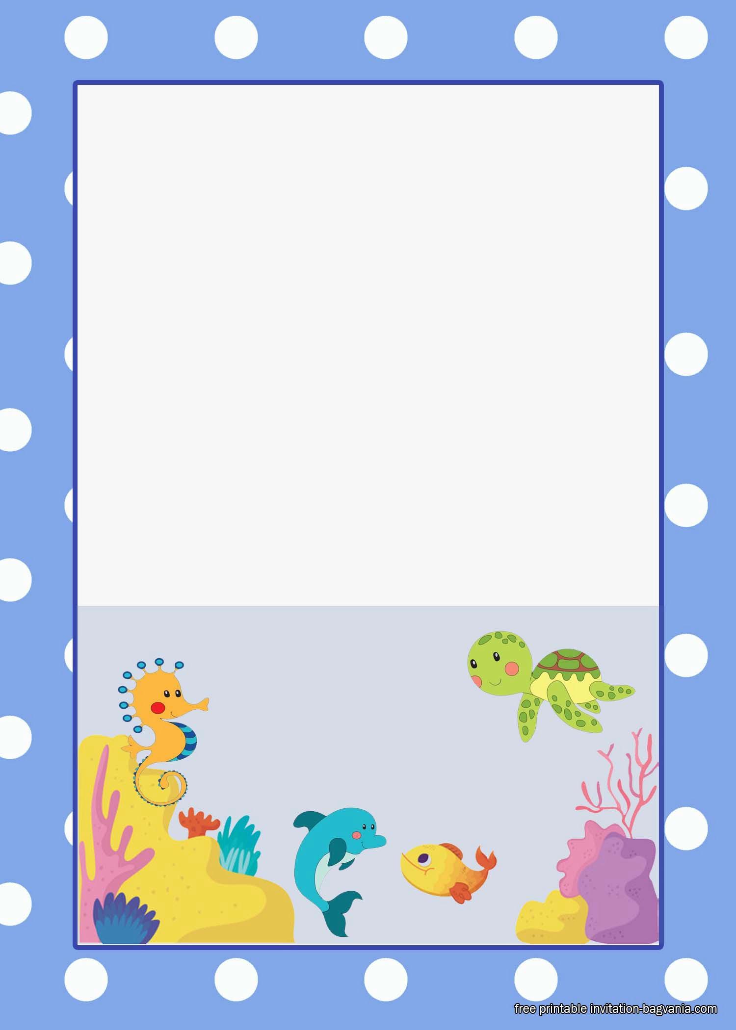 Free Under The Sea Birthday Invitation Printables Free