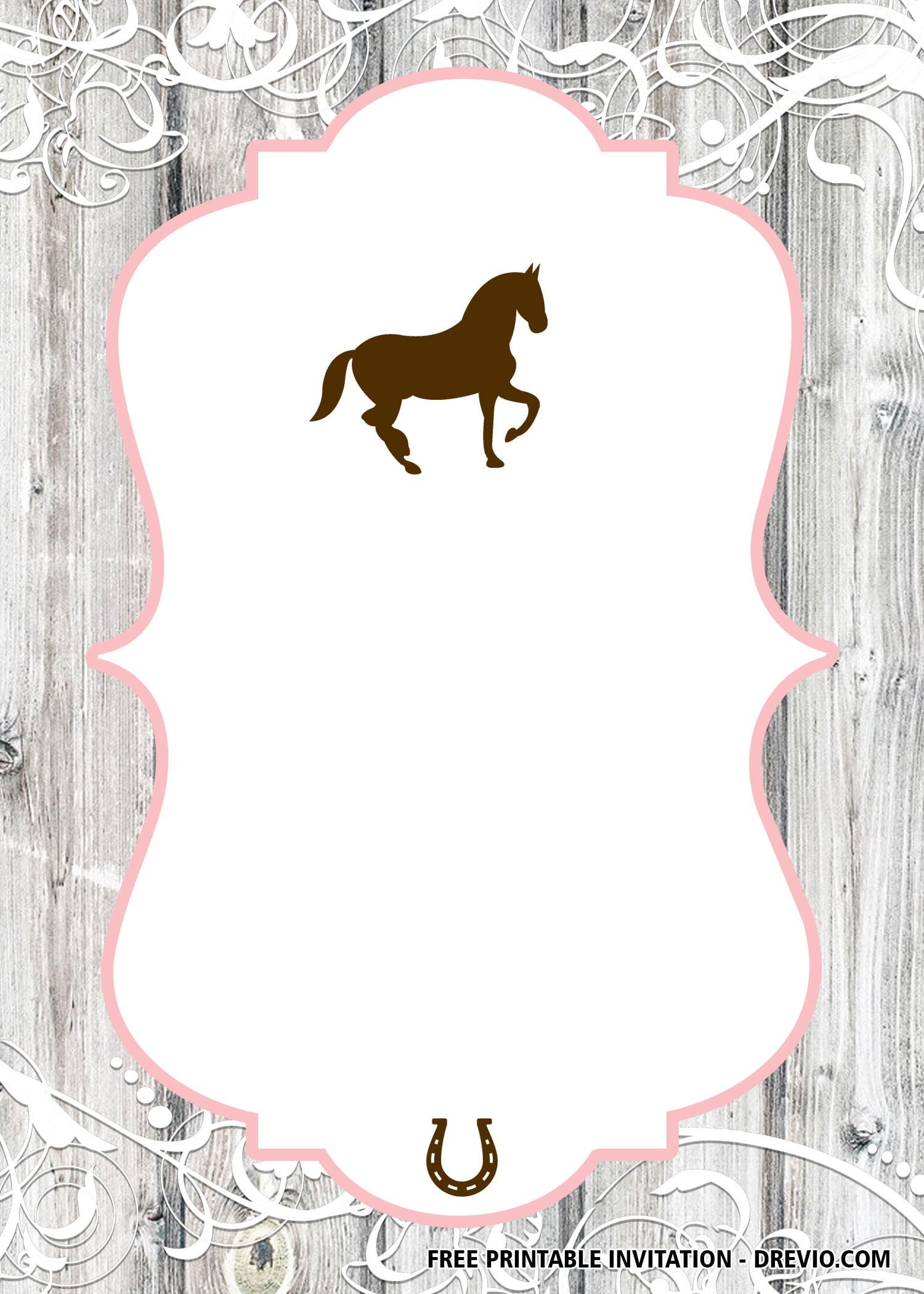 free horse invitation templates free