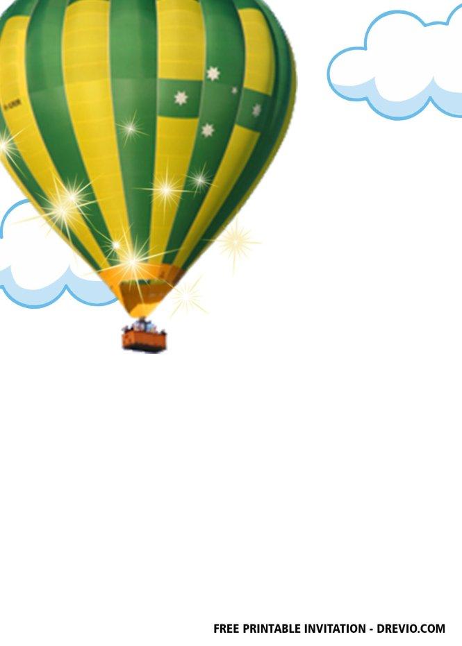 Free Hot Air Balloon Baby Shower