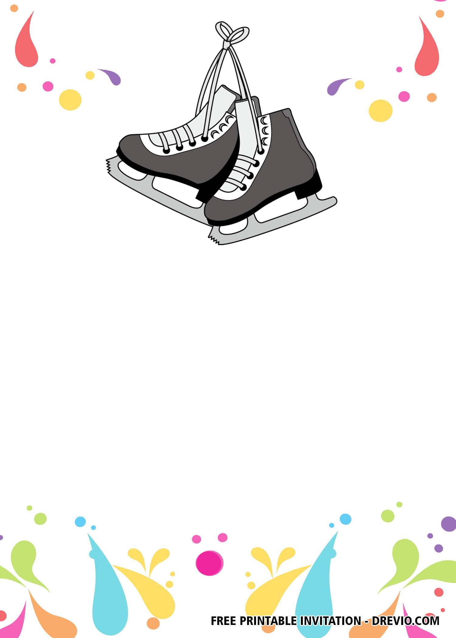 free ice skating invitation templates