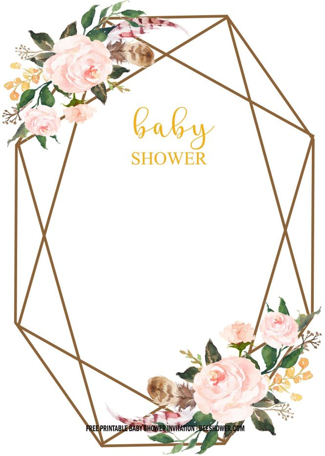 Fl Baby Shower Invitation Templates