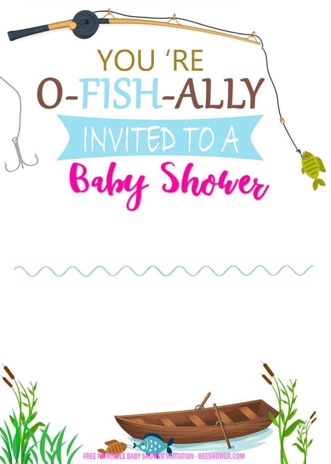 Fishing Themed Invitation Templates