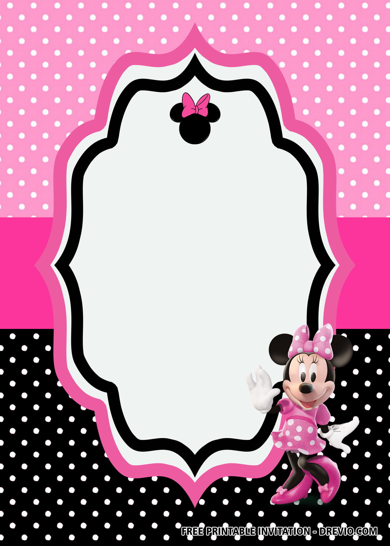 free minnie mouse pink birthday