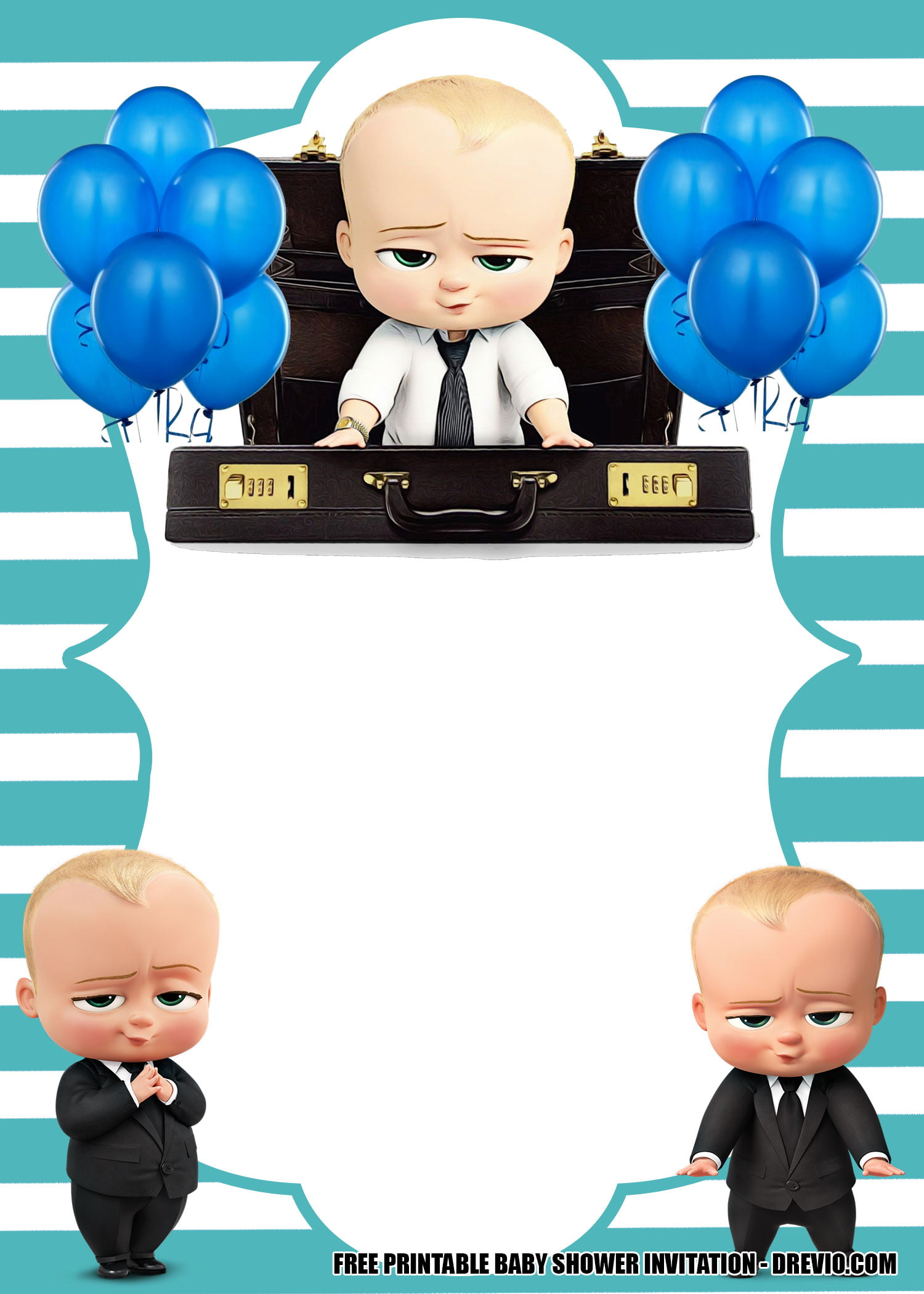 free boss baby invitation templates for