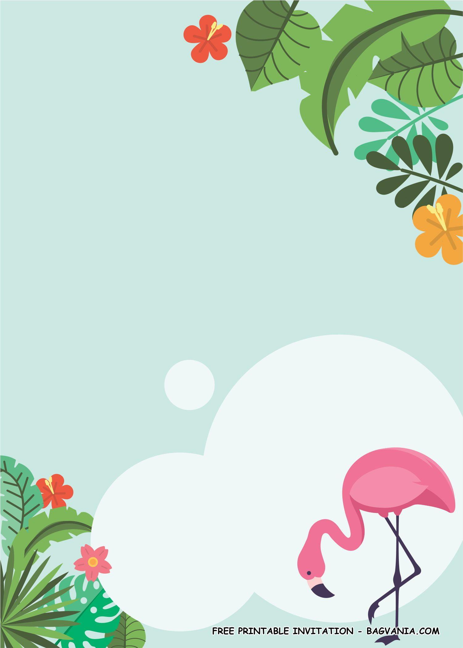 flamingo invitation templates 1 free