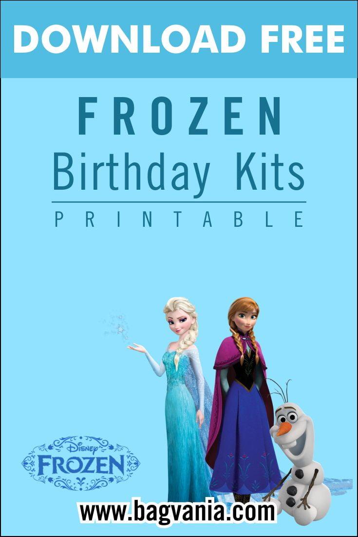 free printable amazing frozen birthday
