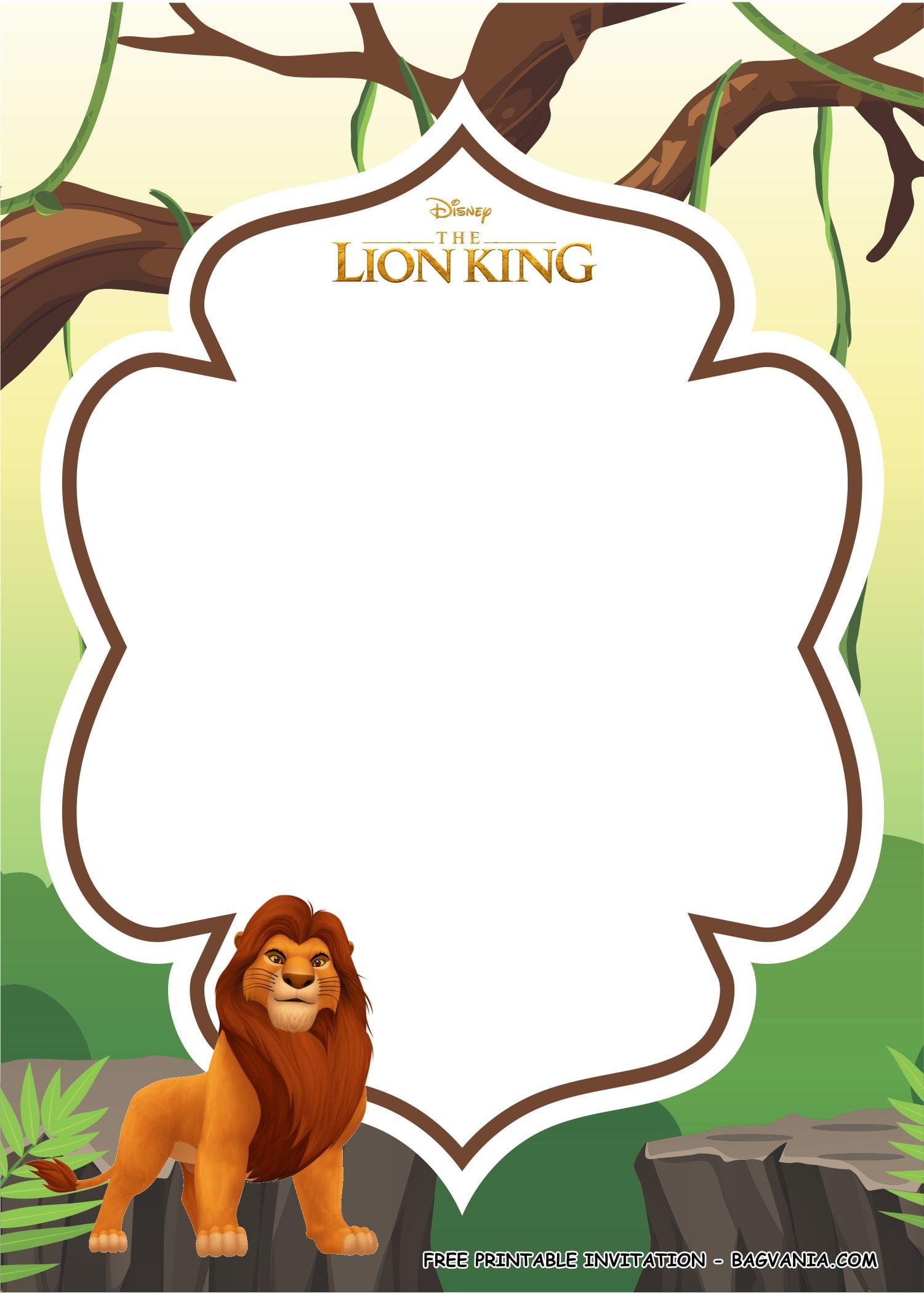 lion king invitation templates 1 free