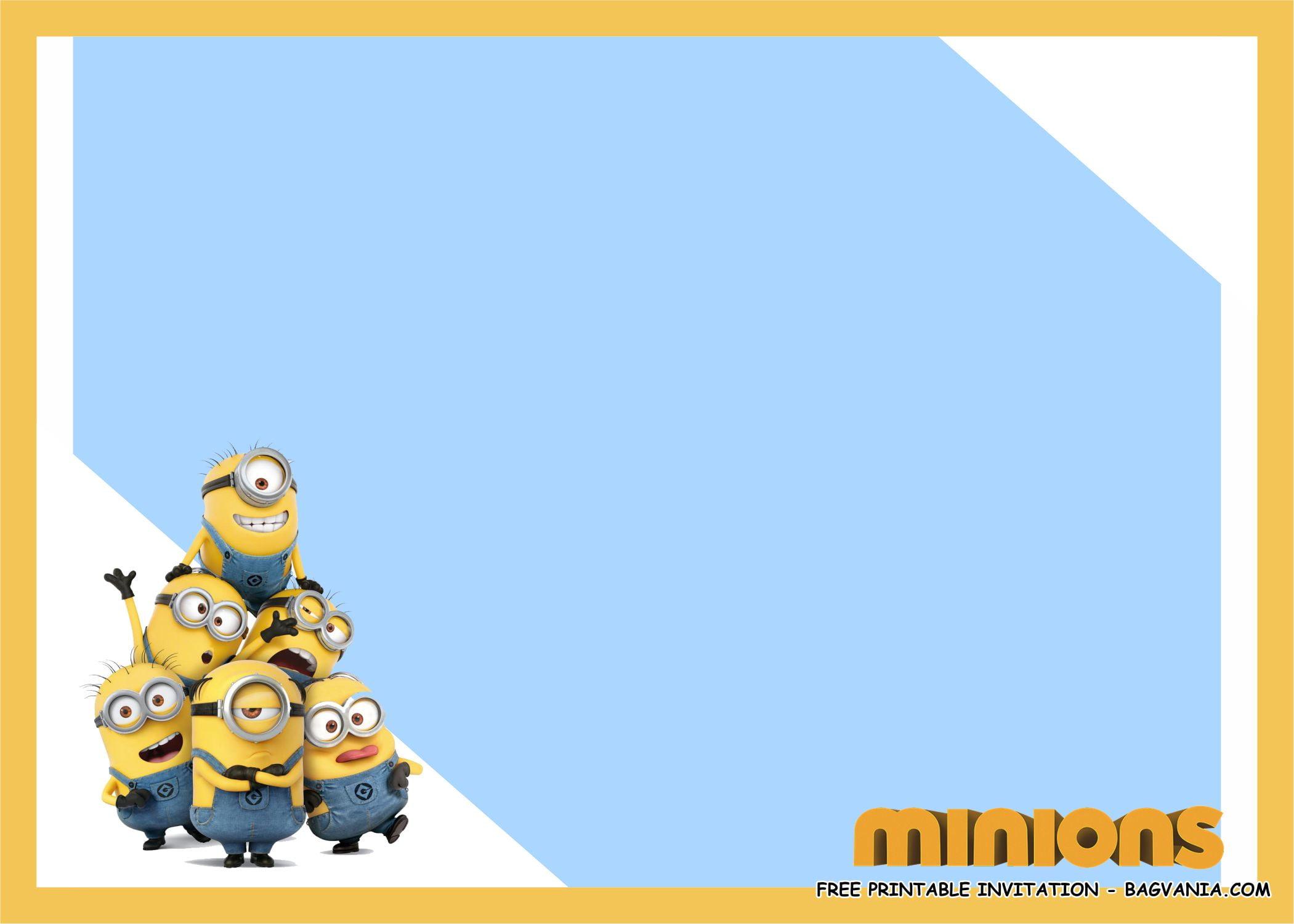 free printable minion birthday party