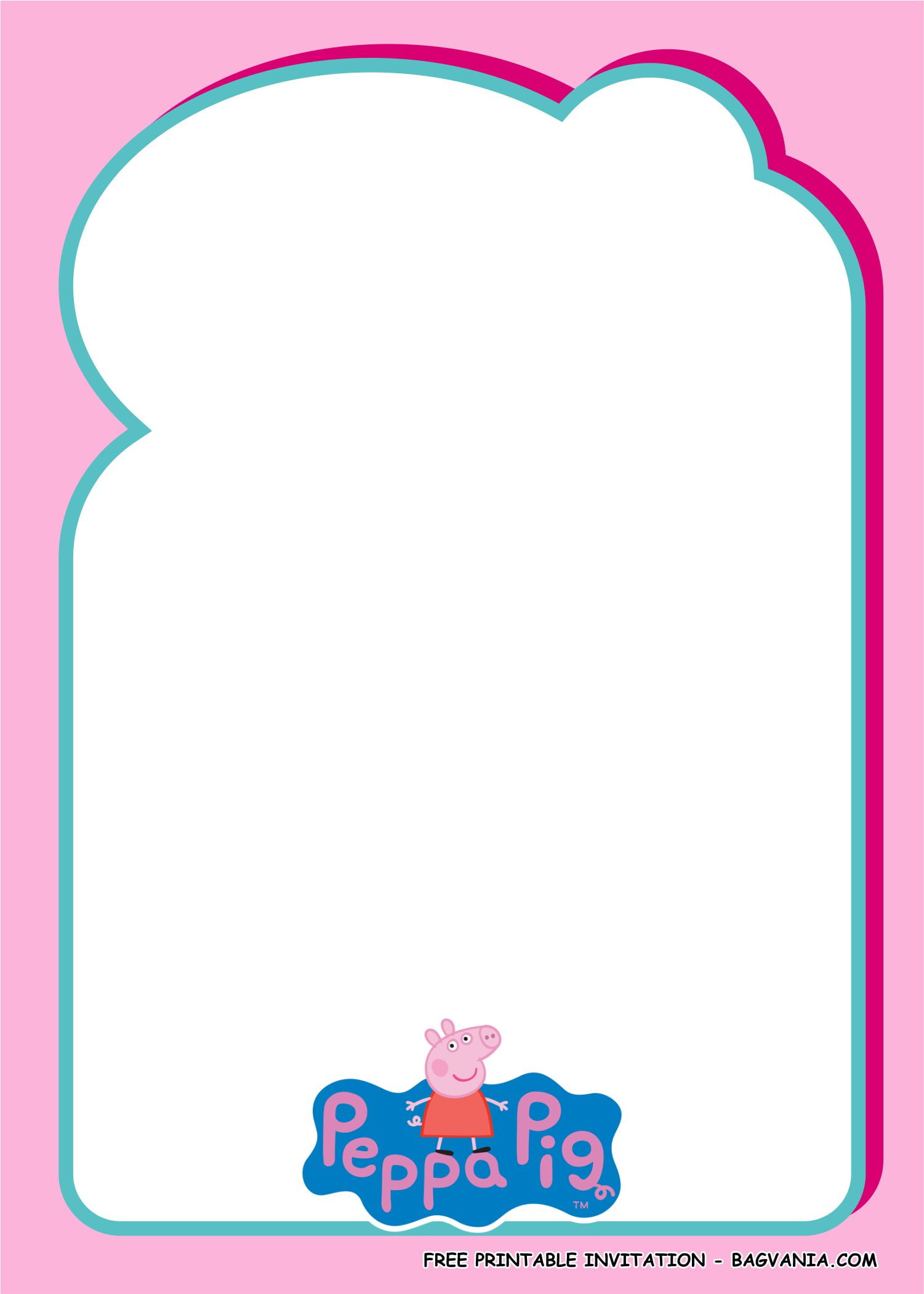 peppa pig invitation templates 1 free