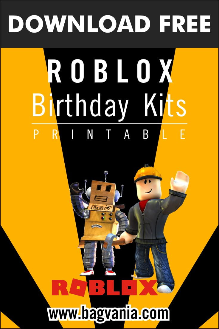 free printable roblox birthday party