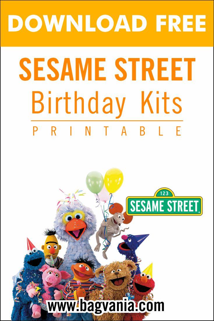 sesame street pinterest free printable birthday invitation templates bagvania