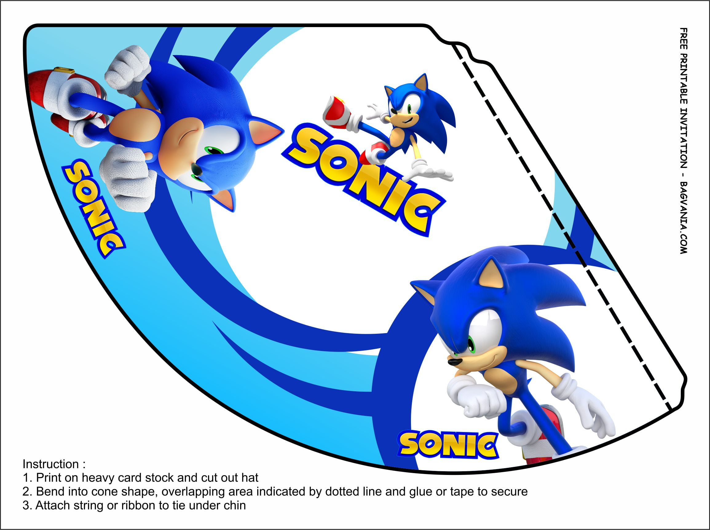 Free Printable Sonic The Hedgehog Birthday Party Kits