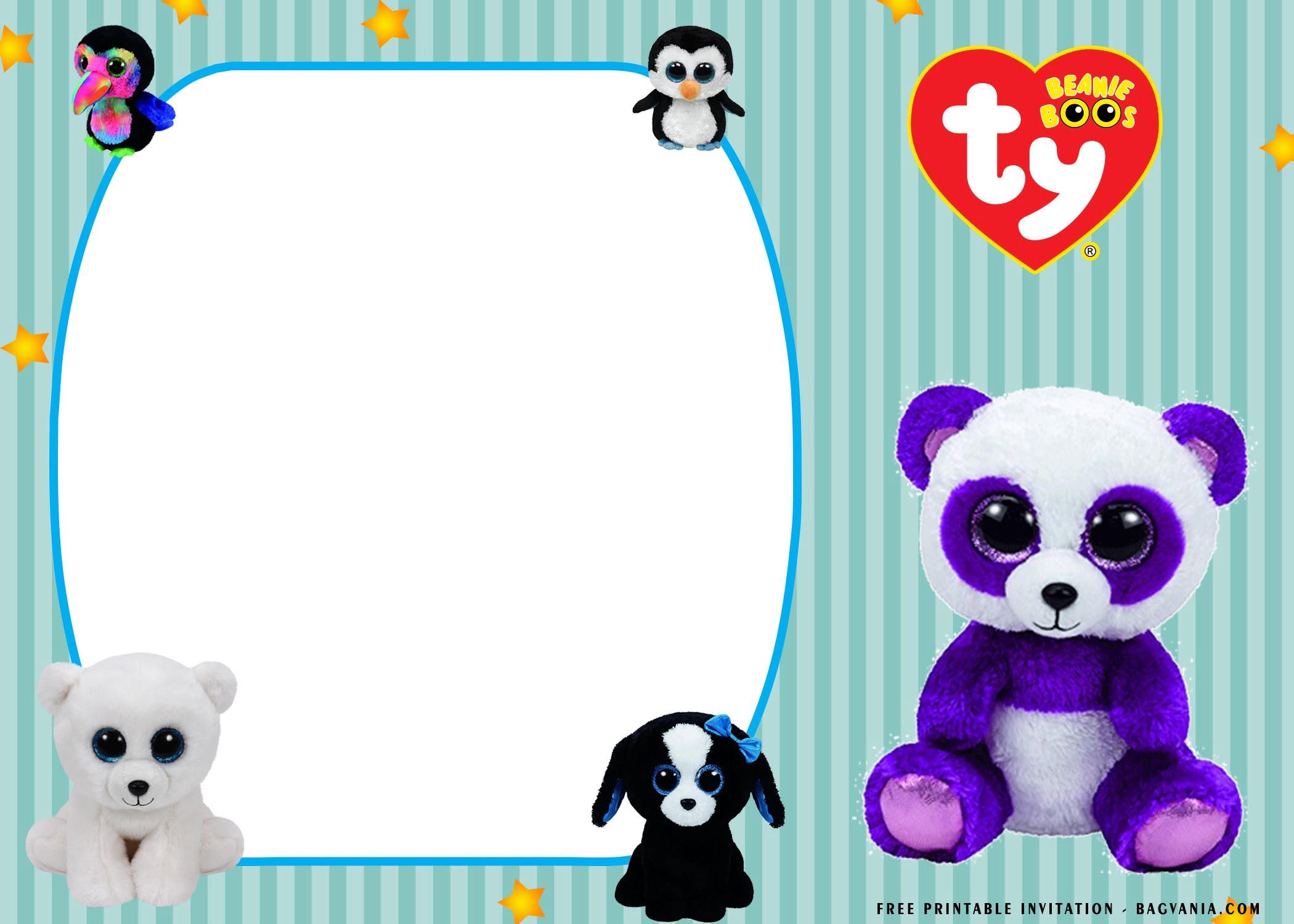 fluffy beanie boo birthday invitation