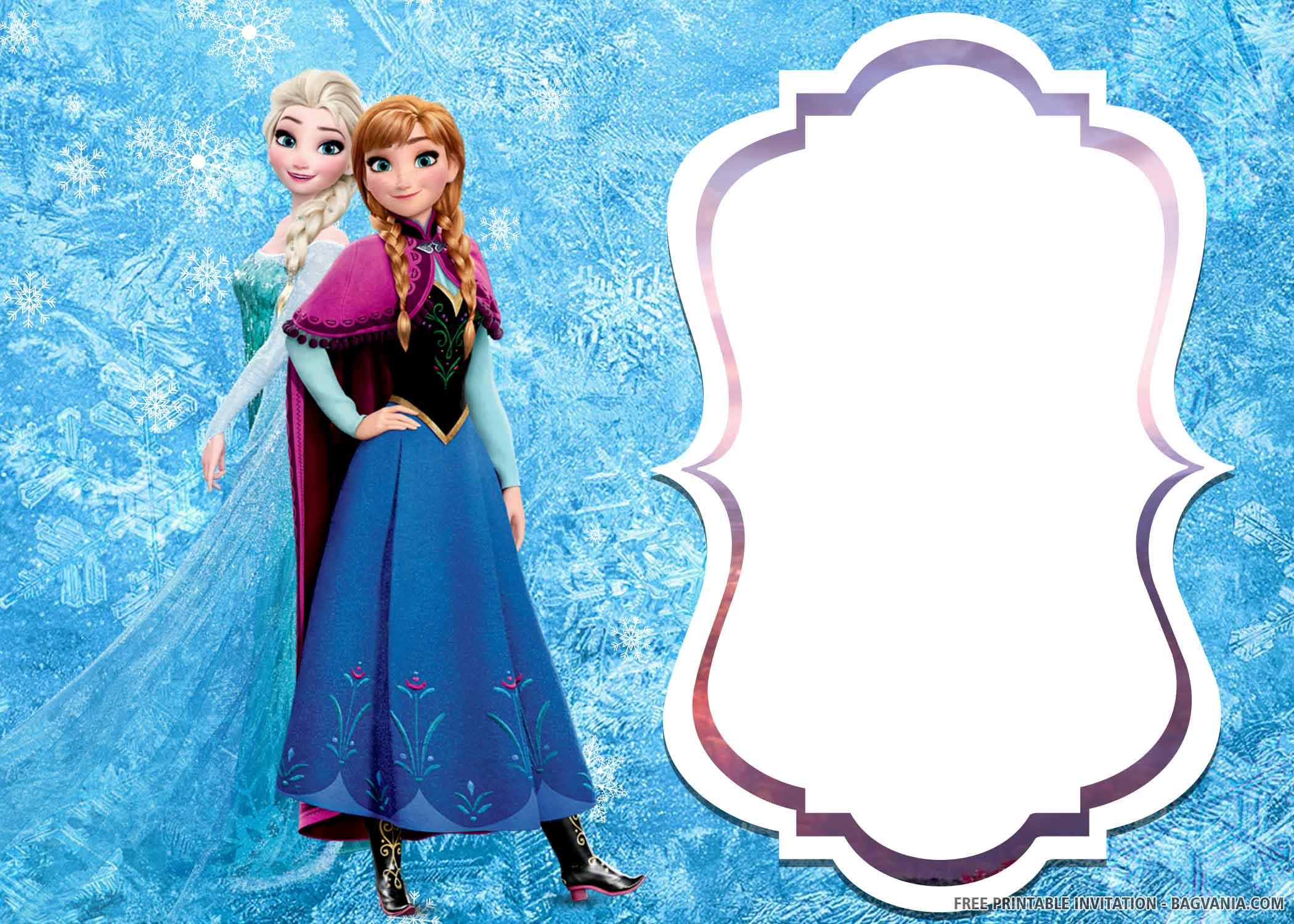 frozen 2 birthday invitation templates