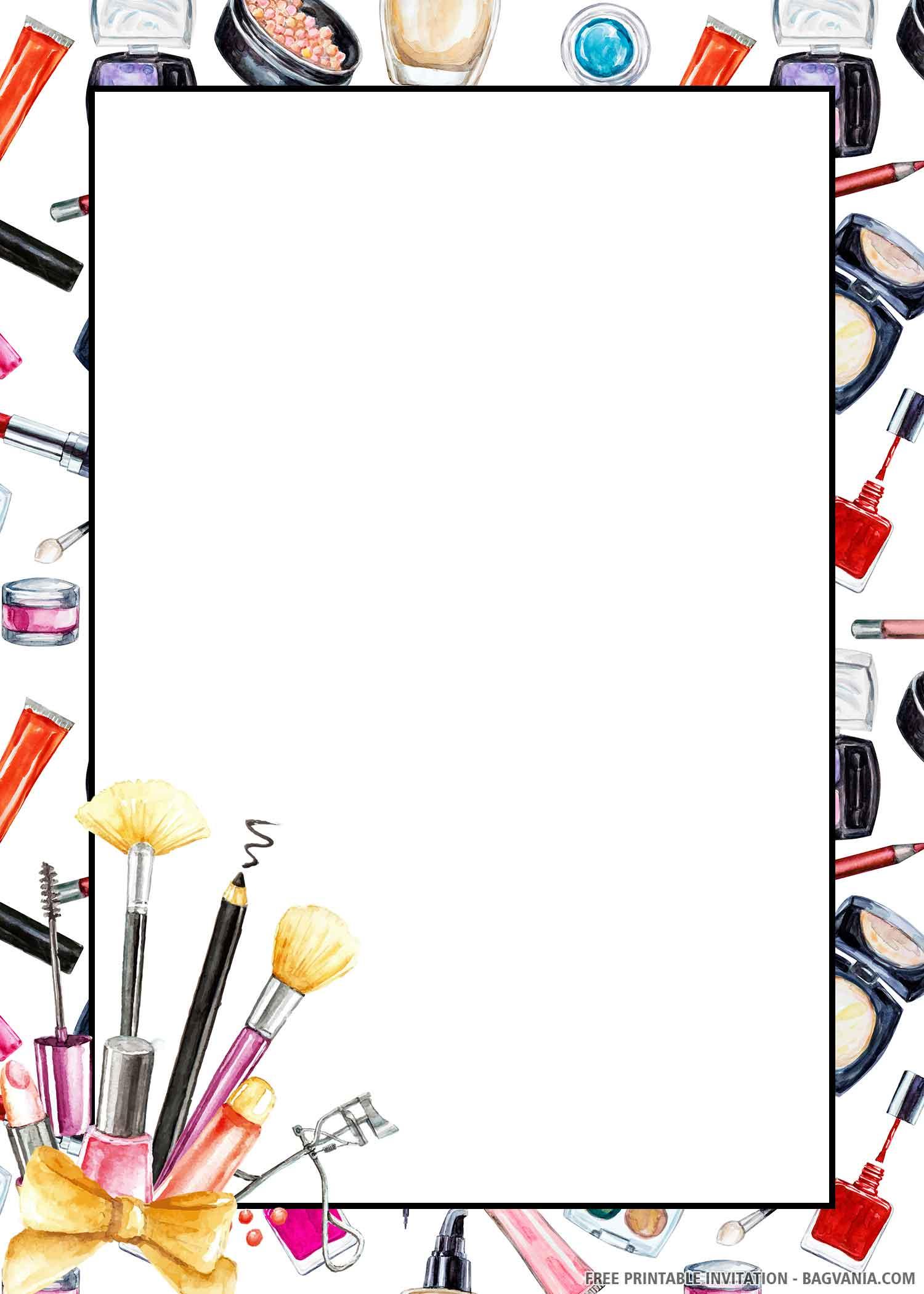 makeup party invitations templates